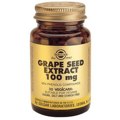 Solgar Extract din semințe de struguri / Grape Seed Extract 100mg 30cps