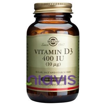 Solgar Vitamin D3 400 IU softgels 100s