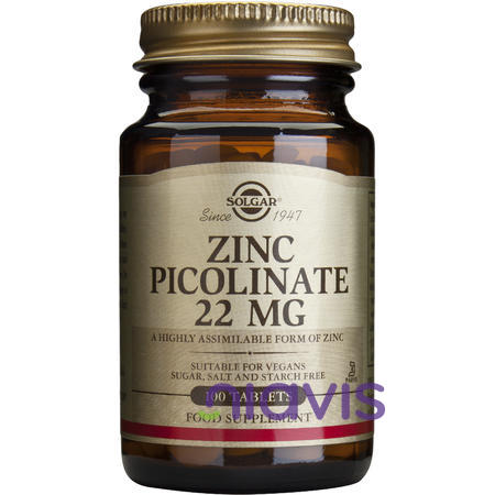 Solgar Zinc Picolinate 22mg 100 tablete