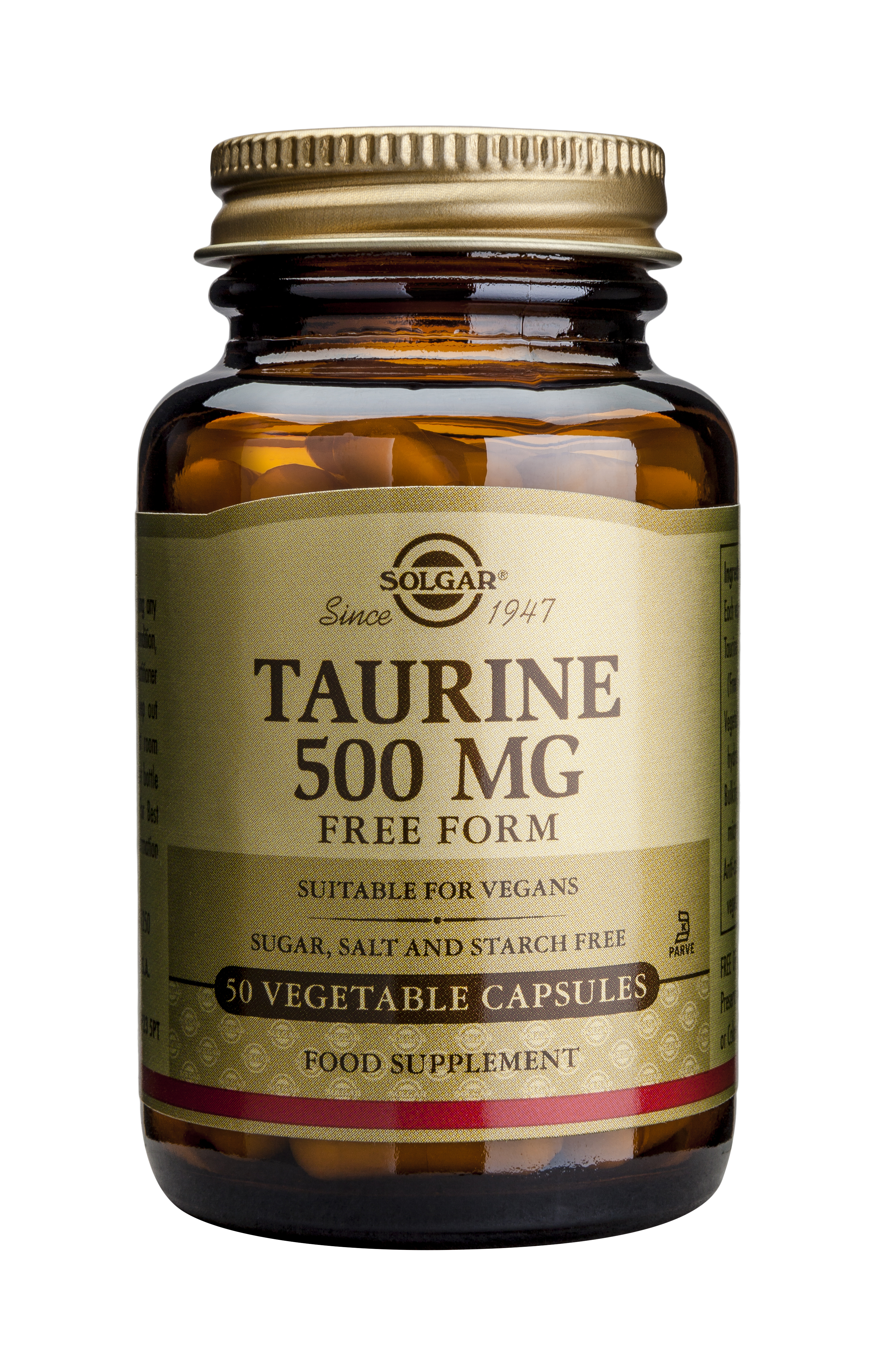 Taurine 500mg 50 veg caps