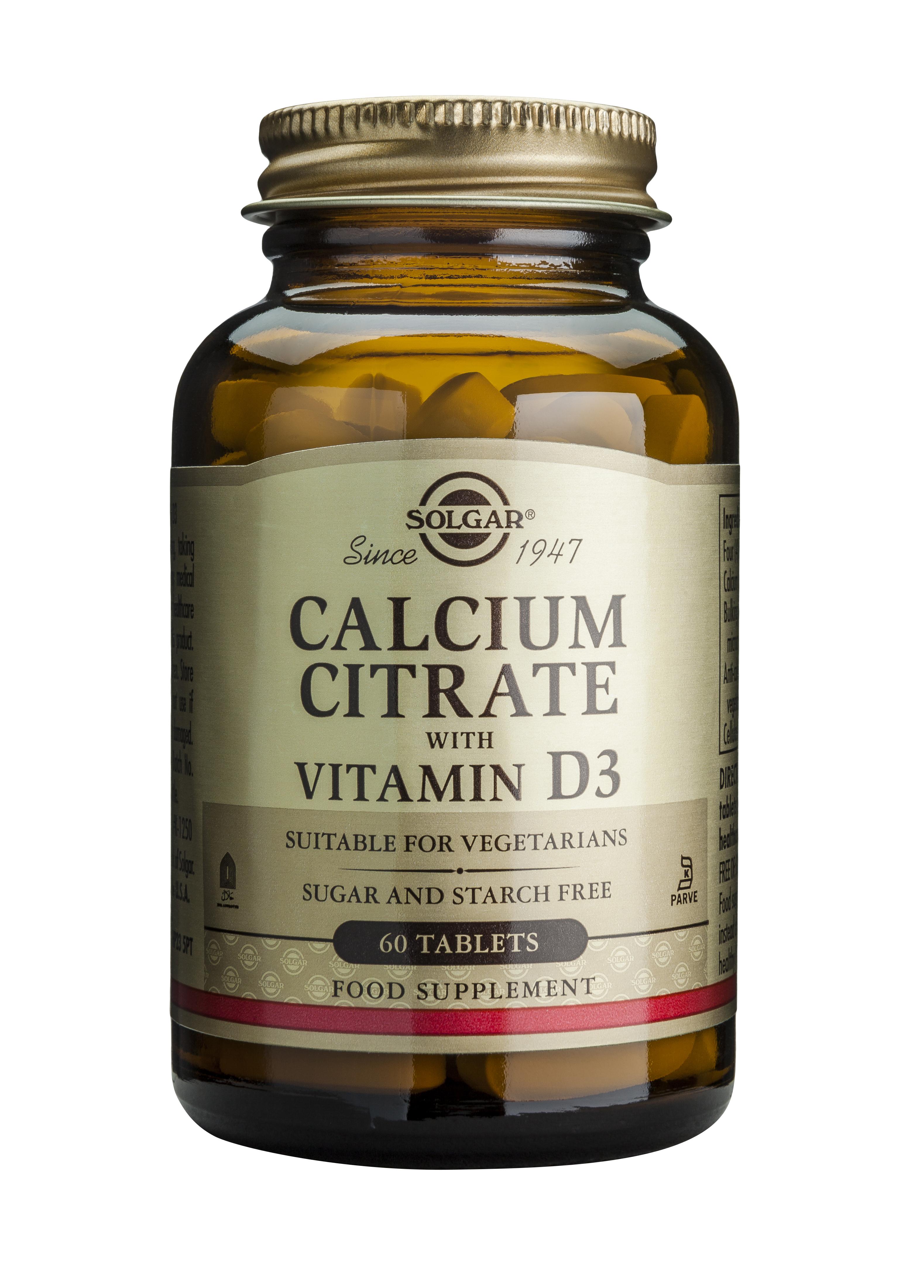 CALCIUM CITRATE 250mg cu D3 60 tablete