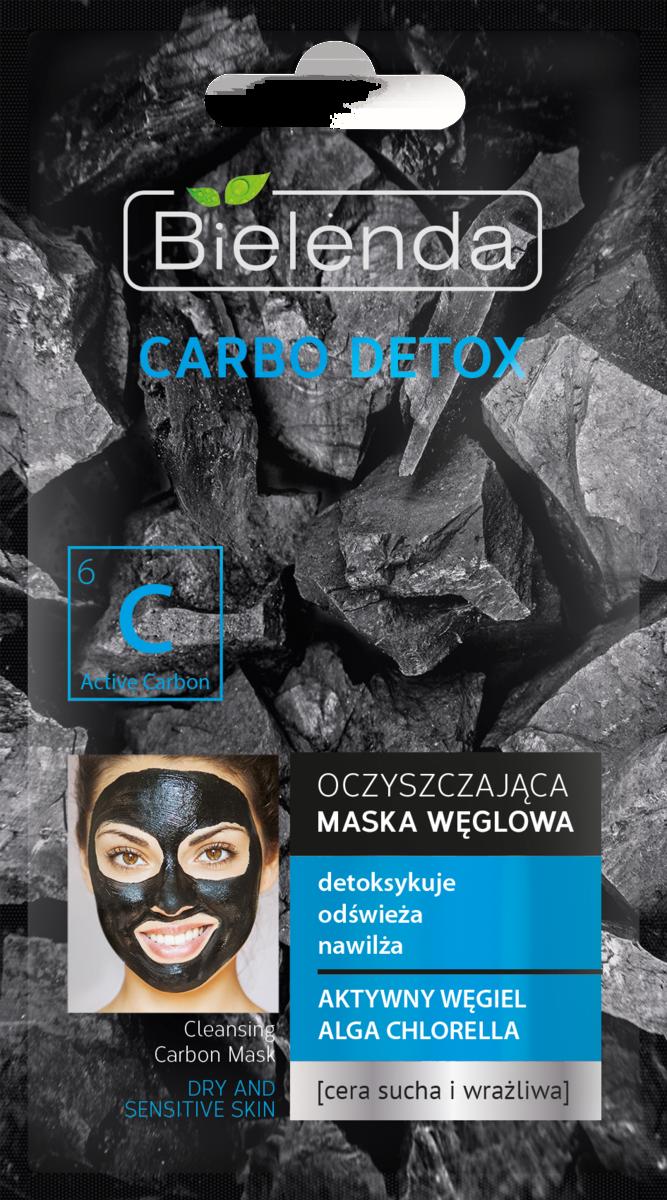 Carbo Detox Masca de fata cu Carbune Activ si Chlorela pentru ten uscat si sensibil 8g