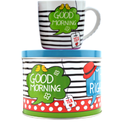 "Sinas Set ceai: Cana + Cutie metalica ""Good morning"" 300ml"