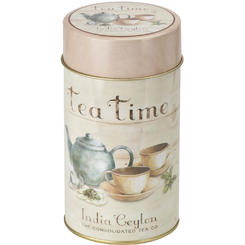 "Cutie metalica rotunda ""Tea time"" 75g"