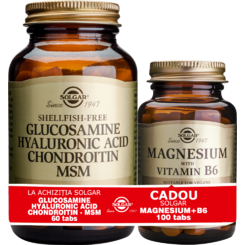 Pachet Glucosamine Hyaluronic Acid Chondroitin MSM 60tablete + Magnesium cu B6 100 tablete GRATIS