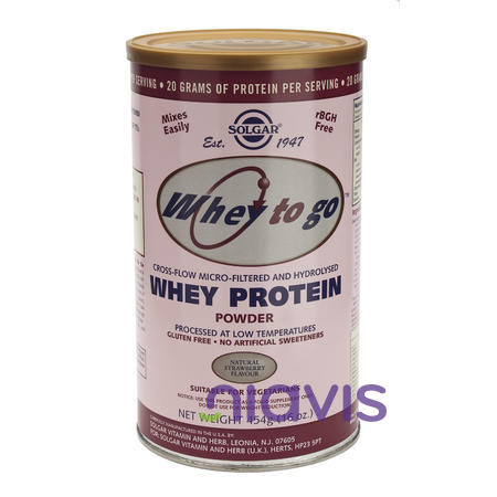 Solgar Whey to Go Protein Strawberry Powder 454g