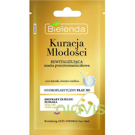 Bielenda YOUTH THERAPY Masca Antirid Revitalizanta cu Extract de Melc 23g/1buc