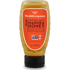 Wedderspoon Miere de Manuka KFactor 16 RAW - Squeezy  340g