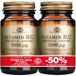 Vitamin B-12 1000mg nuggets 100cps PACHET 1+1-50%