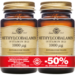 Methylcobalamin (Vitamin B-12) 1000mg 30 tablete Pachet 1+1-50%