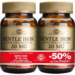 Gentle Iron 20mg 90cps PACHET 1+1-50%